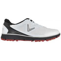 Zapatos de golf Callaway 9.5W Balboa Vent Blancos con negro Hombre sin spikes