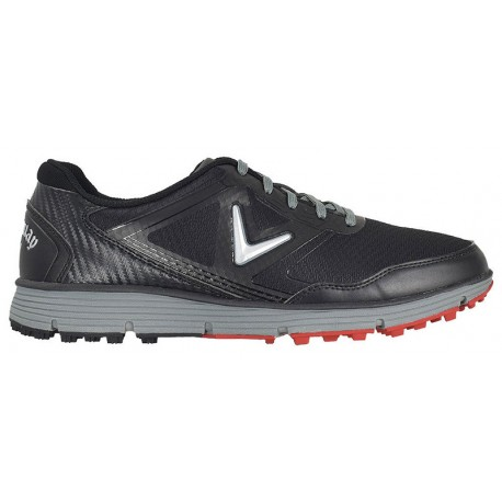 Zapatos de golf Callaway 10W Balboa Vent Negros con gris Hombre sin spikes golfco