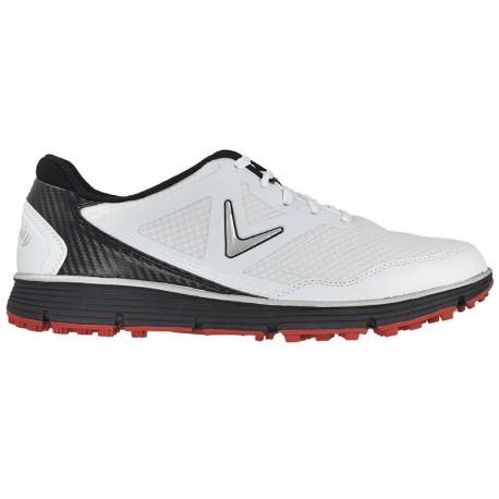 Zapatos de golf Callaway 11.5M Balboa Vent Blancos con negro Hombre sin spikes