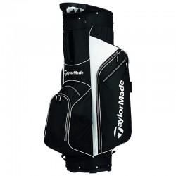 Talega de golf TaylorMade negra con blanco carrito 5.0 golfco tienda de golf