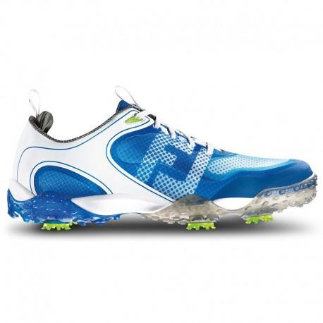 Zapatos de golf FootJoy 10M blanco y azul Freestyle Hombre con spikes en golfco tienda de golf