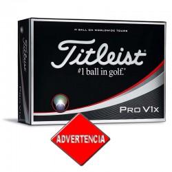 Bolas Titleist Pro V1x blanca docena 12 Unidades