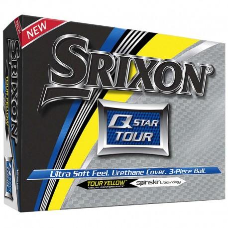 Bolas de golf Srixon Q star Tour amarilla DOCENA tienda de golf golfco