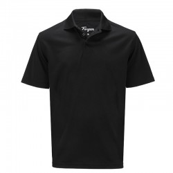 Camiseta de golf Forgan M Negra Premium Performance St Andrews