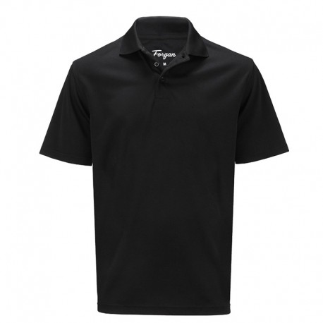 Camiseta de golf Forgan L Negra Premium Performance St Andrews