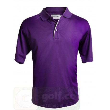 Camiseta de golf Polo Forgan Morada MXT color sólido Mediana