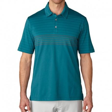 Camiseta de golf Ashworth M mediana verde rayado mariner green engineer blanket
