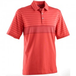 Camiseta de golf Ashworth M mediana roja rayada flag red engineer blanket tienda de golf golfco