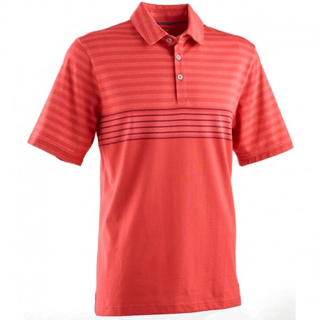 Camiseta de golf Ashworth L grande roja rayada flag red engineer blanket tienda de golf golfco