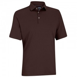 Camiseta de golf Ashworth M Mediana café java primatec interlock