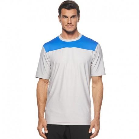 Camiseta de golf Callaway L grande Blanca y Azul cuello redondo