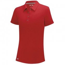 Camiseta de golf Adidas DAMA M mediana roja red heather ClimaLite Hathered