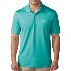 Camiseta de golf Adidas L grande verde aguamarina Energy Aqua tienda de golf golfco