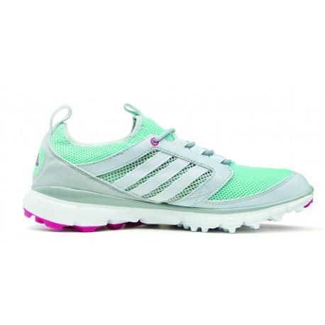 Zapatos de golf Adidas Dama 9.5 Gris y Menta Adistar ClimaCool