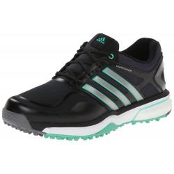 Zapatos de golf Adidas Dama 5M Adipower Sport Boost Negro Plata Verde