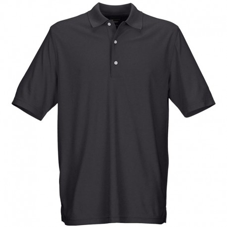 Camiseta de golf Greg Norman M mediana negra shingle Protek Micro Pique hombre Polo