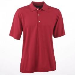 Camiseta de golf Greg Norman M mediana roja Berry Protek Micro Pique hombre Polo