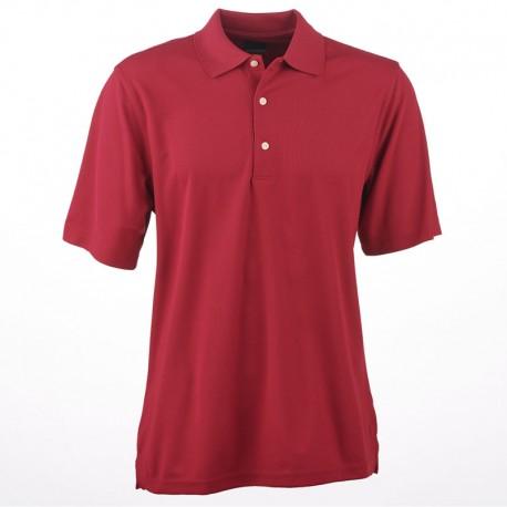 Camiseta de golf Greg Norman M mediana roja Berry Protek Micro Pique hombre Polo