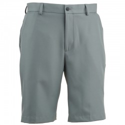 Pantalón Greg Norman 30 Corto gris acero short hombre classic flat front