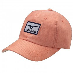 Gorra de golf Mizuno naranja Oxford ajustable