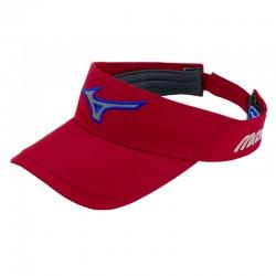 Visera Mizuno roja cardinal Runbird Tech ajustable