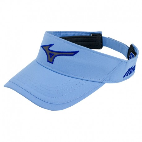Visera de golf Mizuno azul university Runbird Tech ajustable gorra de golf
