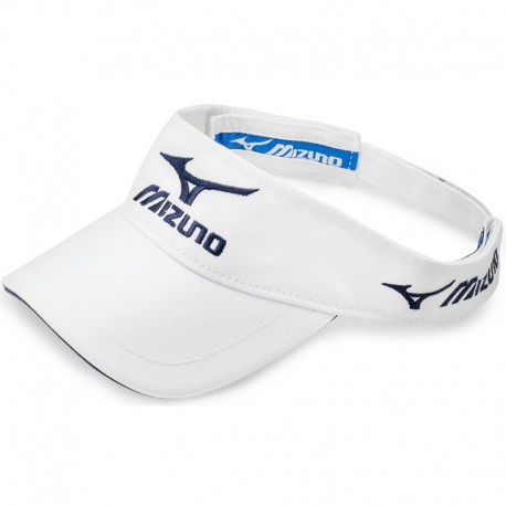 Visera de golf Mizuno blanca Tour ajustable gorra de golf