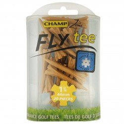 Tees Plásticos 45mm 1 3/4¨ Champ-Fly cortos color madera 20 Und