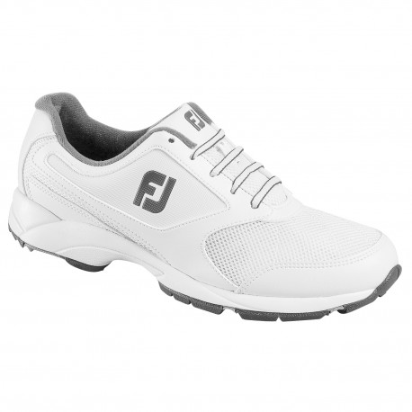 Zapatos de golf FootJoy ANCHO 12W blancos Athletics sin spikes
