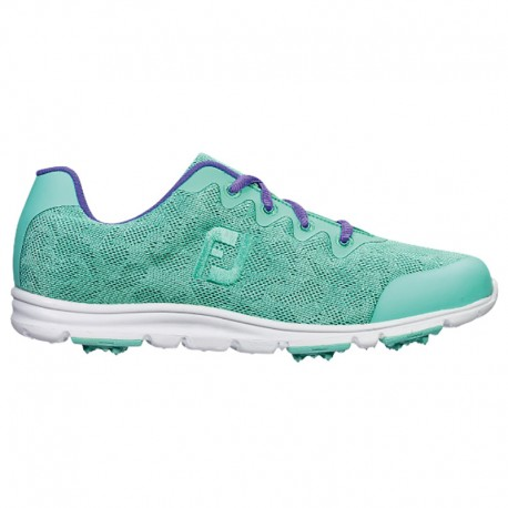 Zapatos de golf Footjoy DAMA 8.5M enJoy aguamarina