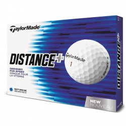 Bolas TaylorMade Distance Plus Blancas 12 Und