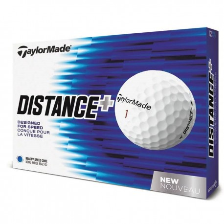 Bolas de golf TaylorMade Distance Plus Blancas 12 Und