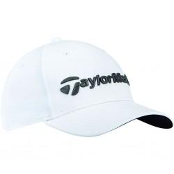 Gorra de golf TaylorMade blanca performance seeker ajustable talla única