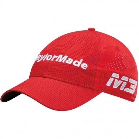 Gorra de golf TaylorMade roja lite tech tour ajustable talla única