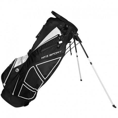 Talega de golf Hot Z Negra y blanco Sport Stand de parar o patitas palos de golf