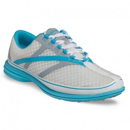 Zapatos de golf Callaway Dama Solaire SE Blanco, Plata y Azul