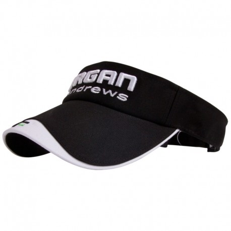 Visera de golf o gorra de golf Forgan negra y blanca