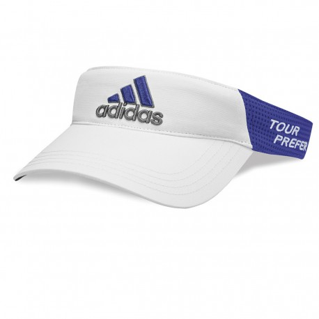 gorra de golf Visera de golf Adidas Taylormade blanca y púrpura Tour preferred ajustable