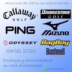 Palos de golf Callaway Ping Oddysey Mizuno Bridgestone temporada actual, para traerlos por encargo