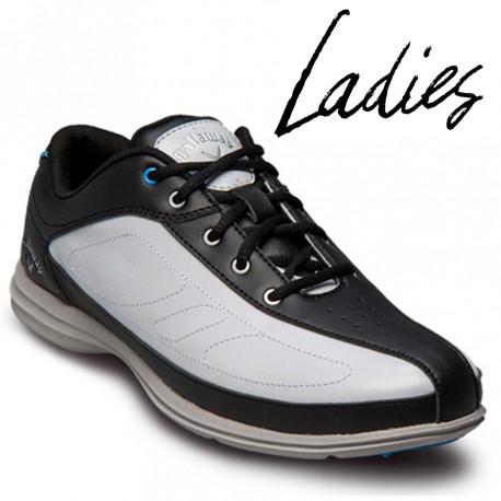 Zapatos de golf Callaway DAMA 9M Cirrus Blanco y Negro tienda de golf golfco
