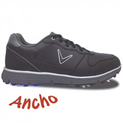 Zapatos de golf Callaway ANCHOS 10W-43 Chev TR Negros Hombre con spikes