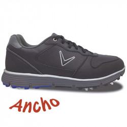 Zapatos de golf Callaway ANCHOS 10.5W-44 Chev TR Negros Hombre con spikes