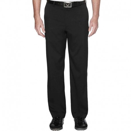 Pantalón de golf Callaway W34-I30 Chev negro algodón flat front solid pants