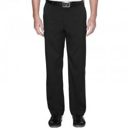 Pantalón de golf Callaway W38-I32 Chev negro algodón flat front solid pants
