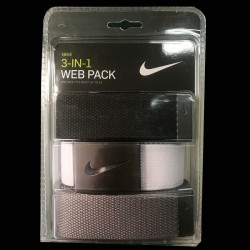 Cinturón Nike 3-Pack tres unidades Blanco/Gris/Negro Talla Ajustable hasta 42