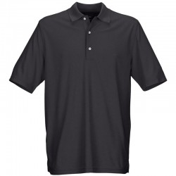 Camiseta de golf Greg Norman S Pequeña negra shingle Protek Micro Pique hombre Polo