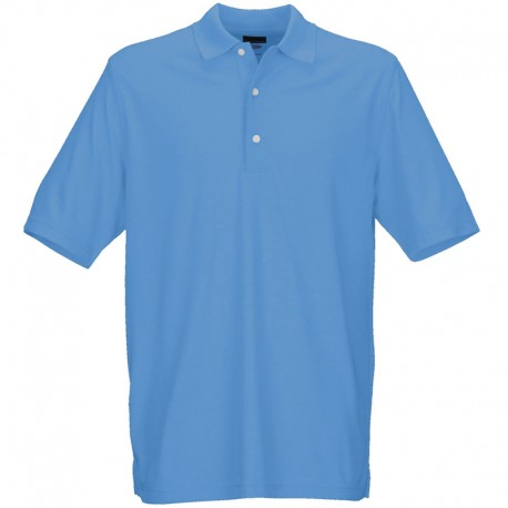 Camiseta de golf Greg Norman S Pequeña Azul Varsity Protek Micro Pique hombre Polo