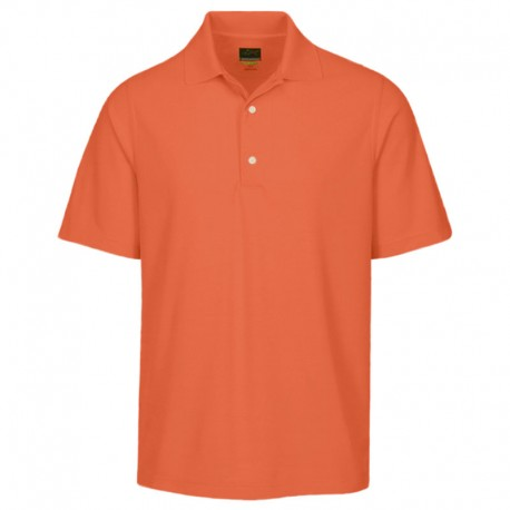Camiseta de golf Greg Norman M Mediana Naranja Nectar Protek Micro Pique hombre Polo