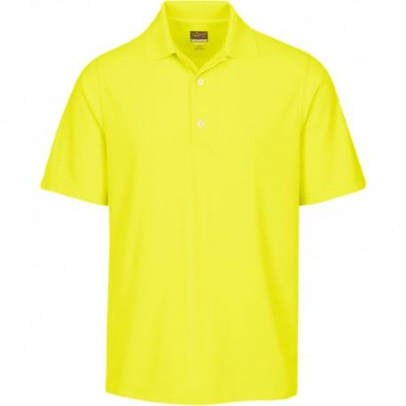 Camiseta de golf Greg Norman S Pequeña Amarilla Citron Protek Micro Pique hombre Polo