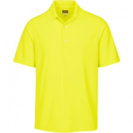 Camiseta de golf Greg Norman 2XL Amarilla Citron Protek Micro Pique hombre Polo